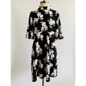 Kate Spade Floral High Neck Sheath Dress Midi